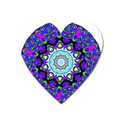 Graphic Isolated Mandela Colorful Heart Magnet by Nexatart