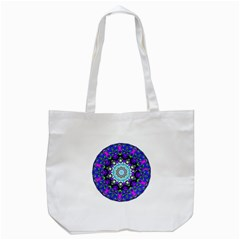 Graphic Isolated Mandela Colorful Tote Bag (white) by Nexatart