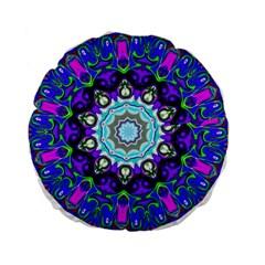 Graphic Isolated Mandela Colorful Standard 15  Premium Flano Round Cushions by Nexatart