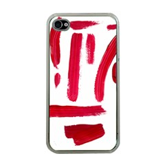 Paint Paint Smear Splotch Texture Apple Iphone 4 Case (clear)
