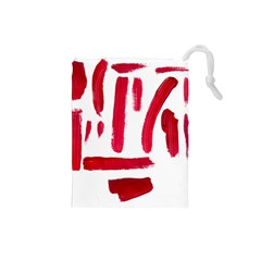 Paint Paint Smear Splotch Texture Drawstring Pouches (small)  by Nexatart