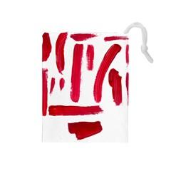 Paint Paint Smear Splotch Texture Drawstring Pouches (medium)