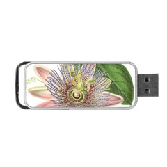 Passion Flower Flower Plant Blossom Portable Usb Flash (two Sides) by Nexatart