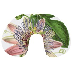 Passion Flower Flower Plant Blossom Travel Neck Pillows by Nexatart
