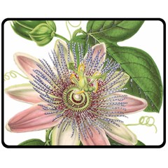 Passion Flower Flower Plant Blossom Double Sided Fleece Blanket (medium)  by Nexatart