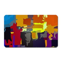 Abstract Vibrant Colour Magnet (rectangular) by Nexatart
