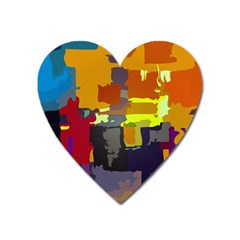 Abstract Vibrant Colour Heart Magnet by Nexatart