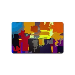 Abstract Vibrant Colour Magnet (name Card) by Nexatart