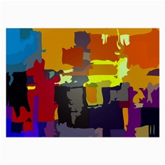 Abstract Vibrant Colour Large Glasses Cloth (2 Side) by Nexatart