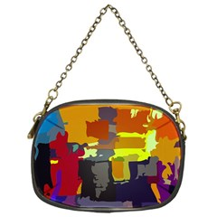 Abstract Vibrant Colour Chain Purses (one Side)  by Nexatart