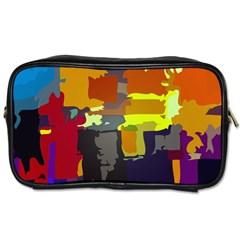 Abstract Vibrant Colour Toiletries Bags by Nexatart