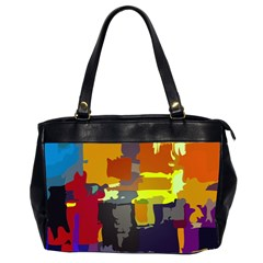Abstract Vibrant Colour Office Handbags (2 Sides)  by Nexatart