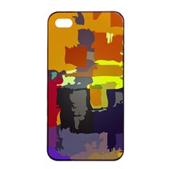 Abstract Vibrant Colour Apple Iphone 4/4s Seamless Case (black) by Nexatart