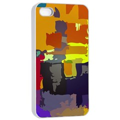 Abstract Vibrant Colour Apple Iphone 4/4s Seamless Case (white) by Nexatart