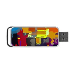 Abstract Vibrant Colour Portable Usb Flash (two Sides) by Nexatart