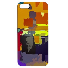 Abstract Vibrant Colour Apple Iphone 5 Hardshell Case With Stand by Nexatart