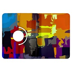Abstract Vibrant Colour Kindle Fire Hdx Flip 360 Case by Nexatart