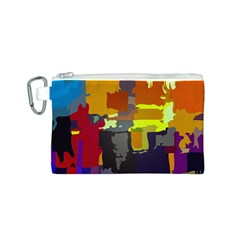Abstract Vibrant Colour Canvas Cosmetic Bag (s) by Nexatart