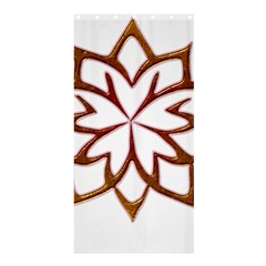 Abstract Shape Outline Floral Gold Shower Curtain 36  X 72  (stall)  by Nexatart
