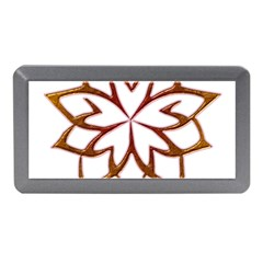Abstract Shape Outline Floral Gold Memory Card Reader (mini) by Nexatart