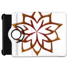 Abstract Shape Outline Floral Gold Kindle Fire Hd 7  by Nexatart