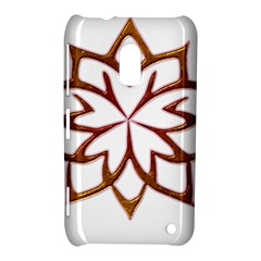 Abstract Shape Outline Floral Gold Nokia Lumia 620 by Nexatart