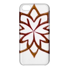 Abstract Shape Outline Floral Gold Apple Iphone 5c Hardshell Case by Nexatart