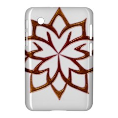 Abstract Shape Outline Floral Gold Samsung Galaxy Tab 2 (7 ) P3100 Hardshell Case  by Nexatart
