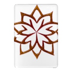 Abstract Shape Outline Floral Gold Samsung Galaxy Tab Pro 10 1 Hardshell Case by Nexatart
