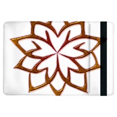 Abstract Shape Outline Floral Gold Ipad Air Flip by Nexatart