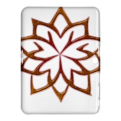 Abstract Shape Outline Floral Gold Samsung Galaxy Tab 4 (10 1 ) Hardshell Case  by Nexatart