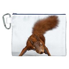 Squirrel Wild Animal Animal World Canvas Cosmetic Bag (xxl) by Nexatart