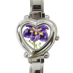 Lily Flower Plant Blossom Bloom Heart Italian Charm Watch by Nexatart