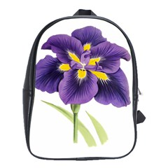 Lily Flower Plant Blossom Bloom School Bags(large)  by Nexatart