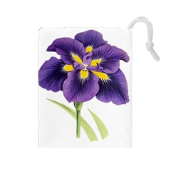 Lily Flower Plant Blossom Bloom Drawstring Pouches (large)  by Nexatart