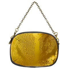 Beer Beverage Glass Yellow Cup Chain Purses (one Side)  by Nexatart