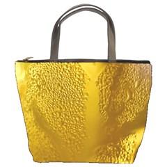 Beer Beverage Glass Yellow Cup Bucket Bags by Nexatart