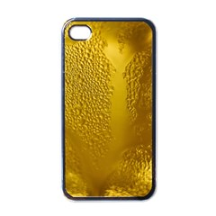 Beer Beverage Glass Yellow Cup Apple Iphone 4 Case (black) by Nexatart