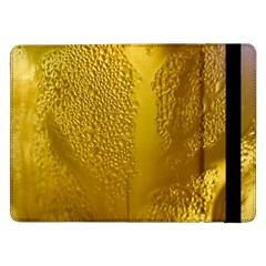 Beer Beverage Glass Yellow Cup Samsung Galaxy Tab Pro 12 2  Flip Case by Nexatart