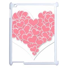 Heart Stripes Symbol Striped Apple Ipad 2 Case (white) by Nexatart