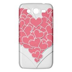 Heart Stripes Symbol Striped Samsung Galaxy Mega 5 8 I9152 Hardshell Case  by Nexatart