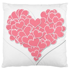 Heart Stripes Symbol Striped Standard Flano Cushion Case (one Side) by Nexatart