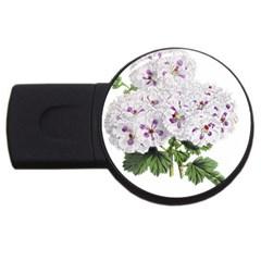 Flower Plant Blossom Bloom Vintage Usb Flash Drive Round (4 Gb) by Nexatart