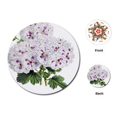 Flower Plant Blossom Bloom Vintage Playing Cards (round)