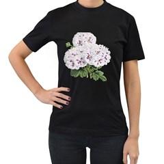 Flower Plant Blossom Bloom Vintage Women s T Shirt (black) by Nexatart