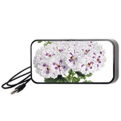 Flower Plant Blossom Bloom Vintage Portable Speaker (black) by Nexatart