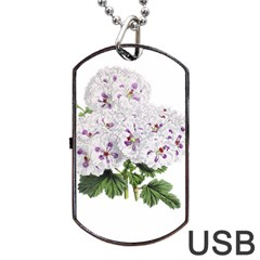Flower Plant Blossom Bloom Vintage Dog Tag Usb Flash (one Side) by Nexatart
