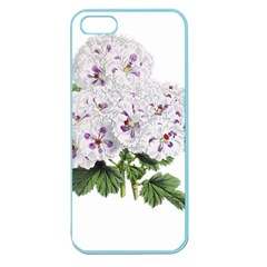 Flower Plant Blossom Bloom Vintage Apple Seamless Iphone 5 Case (color) by Nexatart