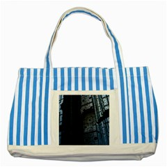 Graphic Design Background Striped Blue Tote Bag by Nexatart