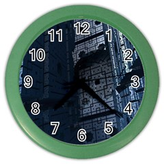 Graphic Design Background Color Wall Clocks by Nexatart